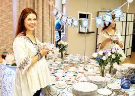 inside anna trebunskaya u0027s tea party themed baby shower