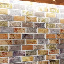 Mosaic Tile For Backsplash by Adhesive Mosaic Tile Backsplash Color Subway 10 Pieces Peel N