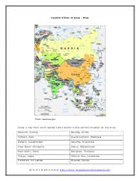 asia reading comprehension worksheets