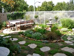 Affordable Backyard Patio Ideas by Simple Design Of The Easy Care Landscape Ideas That Has Concrete