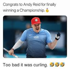 Andy Reid Meme - congrats to andy reid for finally winning a chionship s usr too