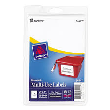 amazon com avery removable print or write labels 2 x 4 inches