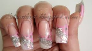 3d nail art pink u0026 silver new year u0027s design 2012