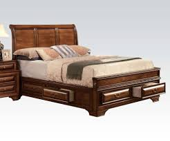 King Size Bedroom Set With Storage Konane Sleigh Bedroom Set With Underbed Storage In Brown Cherry