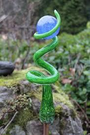 blown glass blown glass sculpture glass horns glass garden