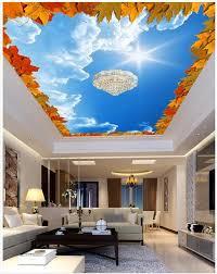 chambre ciel feuille d érable bleu ciel plafonnier plafonds 3d chambre papier
