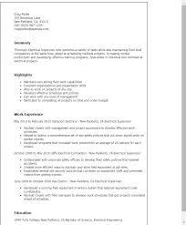 electrical foreman resume electrical supervisor resume sample