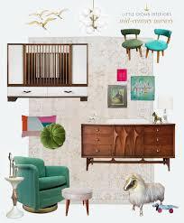 a fully vintage mid century modern nursery little crown interiors