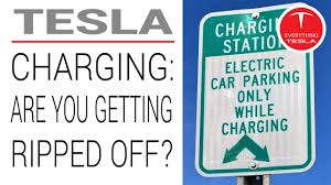why electric car charging stations are a rip off tesla vlog