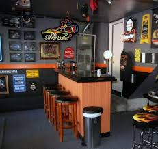 awesome man cave bar harley davidson inspired paint colors for