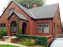 dark grey with orange trim house gallery also exterior design