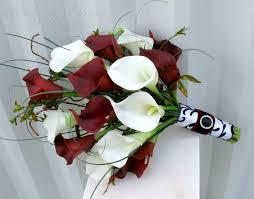 white bouquet white calla wedding bouquet in bloom