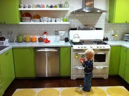 kitchen modern kitchen design mint green backsplash white