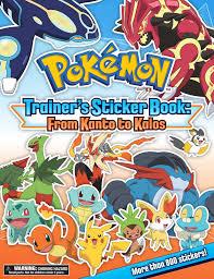 amazon com pokémon trainer u0027s sticker book from kanto to kalos