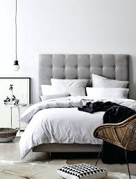 Headboard For King Size Bed Modern Upholstered Also Baxton Studio Linen Bed And