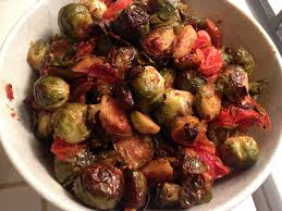 thanksgiving brussel sprouts bacon thanksgiving roasted brussel sprouts with bacon and tomatos