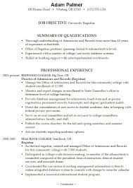 sample resume for students in college sample college student
