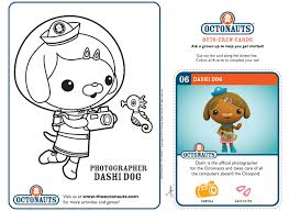 octonauts coloring pages dashi dog