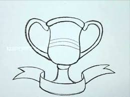 how to draw a trophy youtube