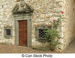Tuscan Door Photograph Italy Photography by Elegant Antique Arch Double Door To The Abandoned Tuscan Stock