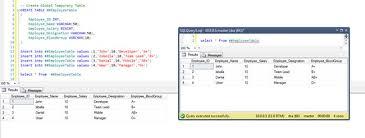 Create Temporary Table Temp Table Vs Table Variable