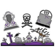 halloween graveyard clipart check out these spellbinders halloween dies
