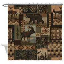 rustic shower curtains rustic fabric shower curtain liner