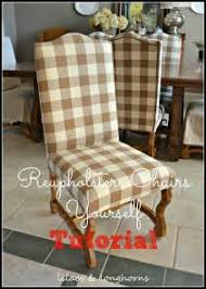 How To Reupholster A Side Chair Diy Reupholstered Side Chair Jenna Burger How To Upholster A