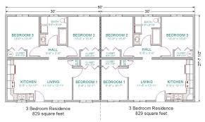 16 unique duplex plans 3 bedroom with garages house plans 22900