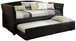 Daybeds With Trundles Amazon Com Furniture Of America Elliss Leatherette Upholstered