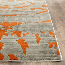 Orange And Grey Rugs Amazon Com Safavieh Porcello Collection Prl7735f Light Grey And