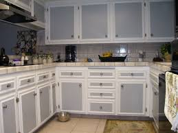 Backsplash With White Kitchen Cabinets Two Tone Kitchen Cabinets Grey And White Color Countertop
