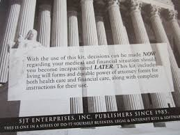 Durable Unlimited Power Of Attorney Form by Living Will Kit Do It Yourself Valid In All 50 States Timothy J