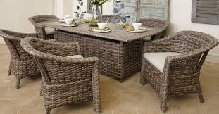 Outdoor Patio Dining Furniture Venture St Simons Collection Resin Wicker Dining Tables And