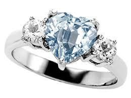 Aquamarine Wedding Rings by Sterling Silver Aquamarine Wedding Rings