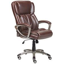 Leather High Back Armchair Serta Executive Office Bonded Leather High Back Chair Biscuit