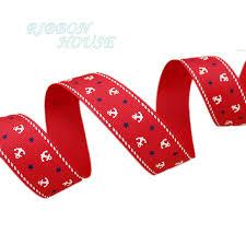 gift wrap ribbon 5 yards lot 1 25mm sea anchor series ribbons printed