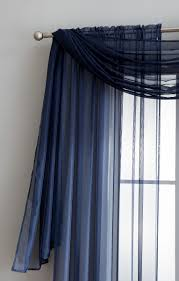 Navy Blue Sheer Curtains Warm Home Designs Navy Blue Window Scarf Valances Sheer Navy