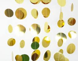 gold garland etsy