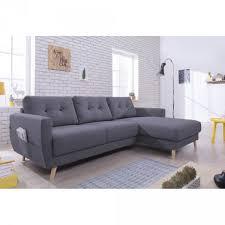 bois et chiffon canapé canapé d angle 4 places scandinave méridienne gris foncé salon