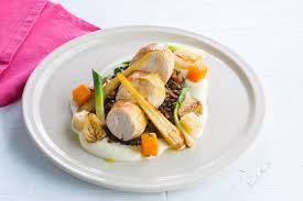 Delicious Main Course With Braised Pork Cheeks Pickled Main Course Recipes Great British Chefs