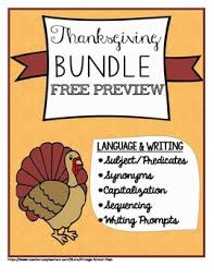 thanksgiving fall synonyms capitalization sequencing subject