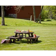 Commercial Grade Outdoor Furniture Large Octagon Picnic Table Polywood Commercial Grade Outdoor