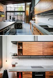 modern kitchen concrete countertops a garage was converted into this comfortable living space