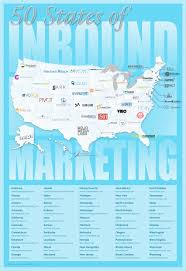 Fifty States Map 50 States Of Inbound Marketing Top Marketing Agencies Across The