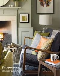 lime and orange country living room interiors by color
