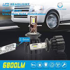 le h7 led 2pcs h4 h7 led car headlights ultra thin heat