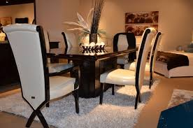 Supreme Dining Chairs Supreme Luxury Ebony Veneer And Black Crocodile Dining Table