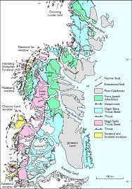 Greenland Map The Foreland Propagating Thrust Architecture Of The East Greenland