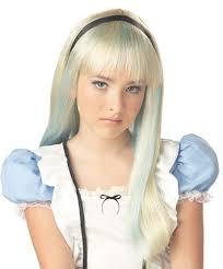 Alice Wonderland Halloween Costumes Kids Alice Wonderland Rebel Blonde Blue Child Size Standard Costume